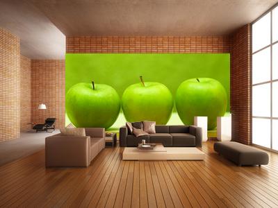 fototapete gr ner apfel fototapeten f r zu hause um. Black Bedroom Furniture Sets. Home Design Ideas
